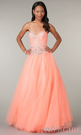 Alyce Beaded Strapless Quinceañera Ball Gown - PromGirl