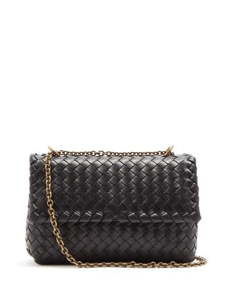 Bottega Veneta cross baby bag leather black