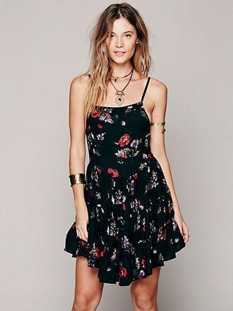 dress black dress floral dress