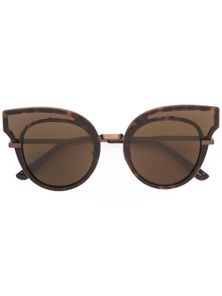 embellished sunglasses brown