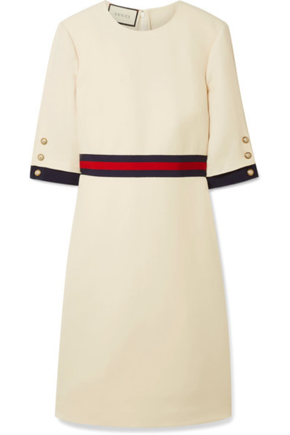 gucci dress mini dress mini silk wool cream