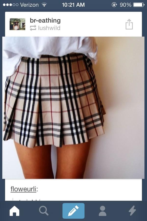 Burberry Check Print Skirt Big Girls Nordstrom