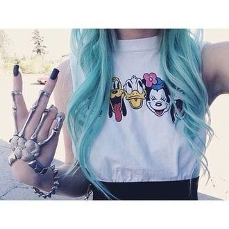 shirt disney disney clothes disney sweater mickey mickey mouse mouse cartoon cute punk cool grunge hippie peace peace sign minnie donald duck duck animal pluto goofy jewels t-shirt tank top impression14.com