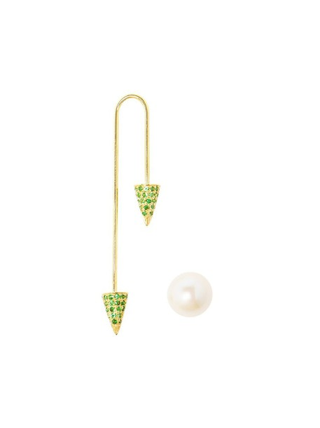 women pearl gold green yellow jewels