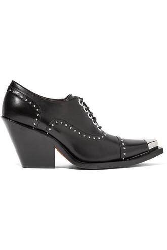 studded pumps lace leather black black leather shoes