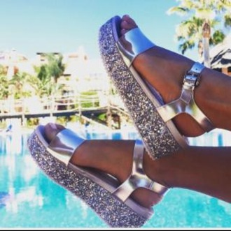 shoes glitter sandals summer zara fashion inspo grunge hipster streetstyle fitspo beach pool pool party