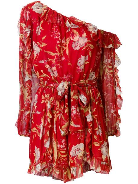 Zimmermann women floral silk red romper