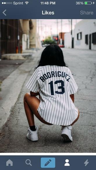 jersey brooklyn t-shirt shoes shirt baseball tee