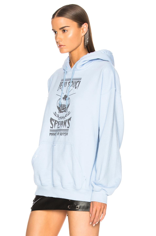 BEAU SOUCI Wish Hoodie in Blue | FWRD