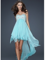 Buy Beautiful A-line Sweetheart Neckline Mini Chiffon Prom Dress    under 200-SinoAnt.com