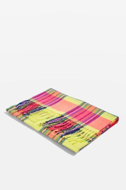 Topshop neon scarf yellow
