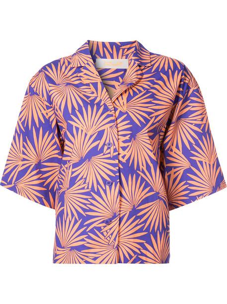 shorts tropical print shorts tropical women cotton print blue