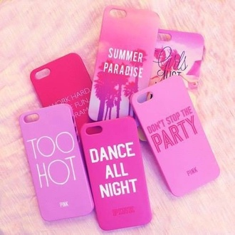 phone case girly iphone 4 case pink case for iphone 4/4s/5 summer outfits too hot too dope