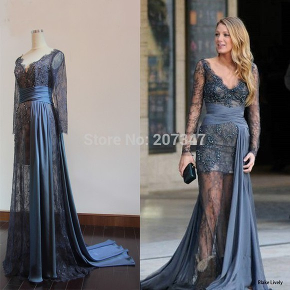 lace dress gossip girl blake lively fashion zuhair murad evening dress
