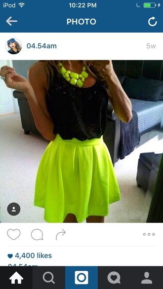 shirt skirt singlet bright yellow
