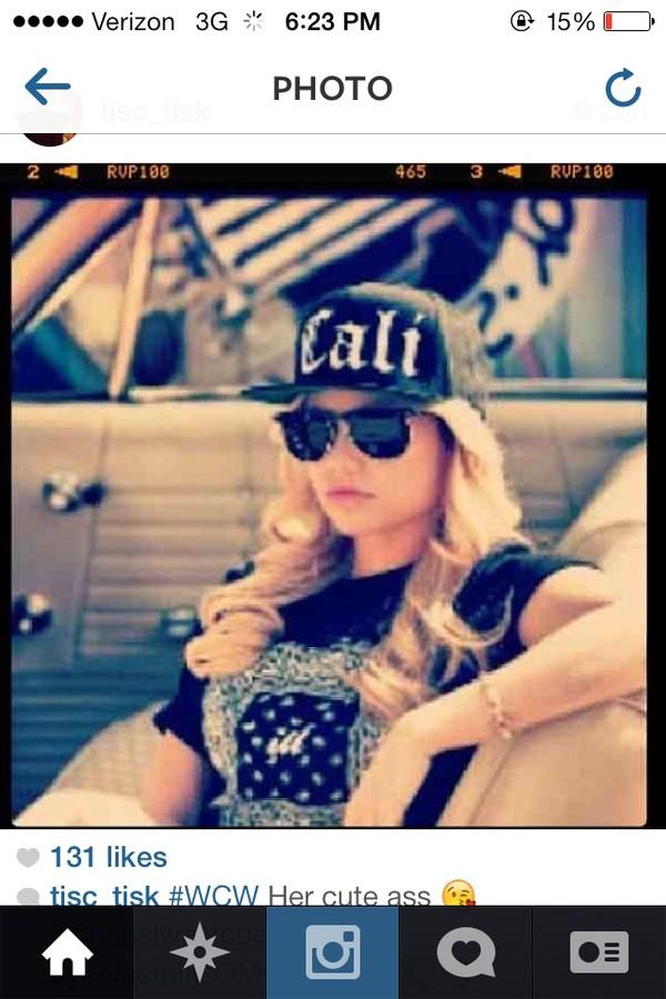 shirt chanel west coast ill bandana print cute black bandana print tee california snapback black shirt hat