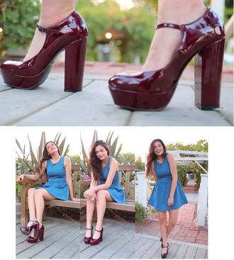 shoes burgundy heels high heels platform shoes chunky heel chunky heels chunky mary jane mary jane shoes mary jane heels