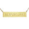 Personalized nameplate necklace - yellow gold | one side engraving - 17