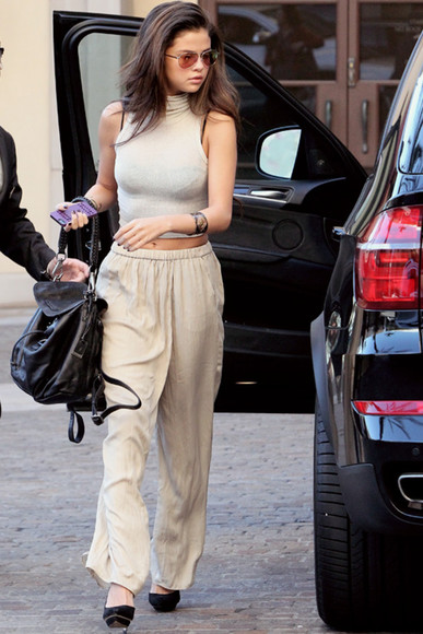 crop tops summer outfits fashion style top selena gomez