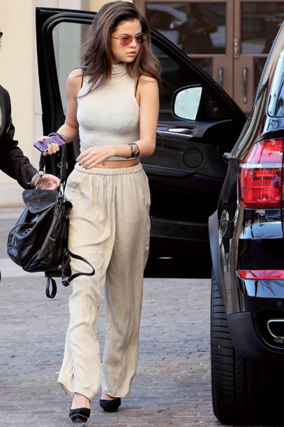 Top Crop Tops Selena Gomez Fashion Style Summer