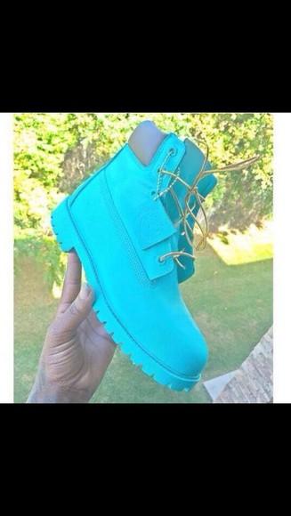 blue blue boots cute timberlands timberland boots girs