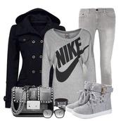 bag,purse,grey,shoes,jacket,shirt,sweater,outfit,nike