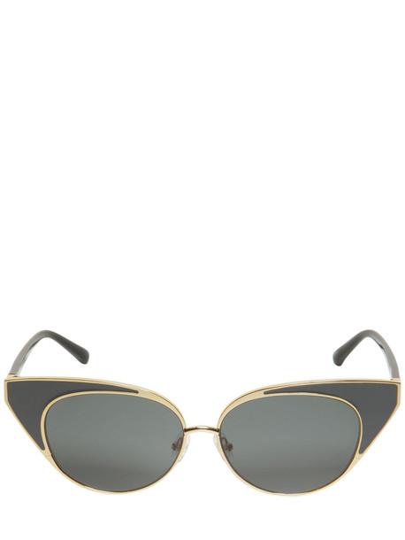 LINDA FARROW N.21 Cat-eye Frame Sunglasses in black