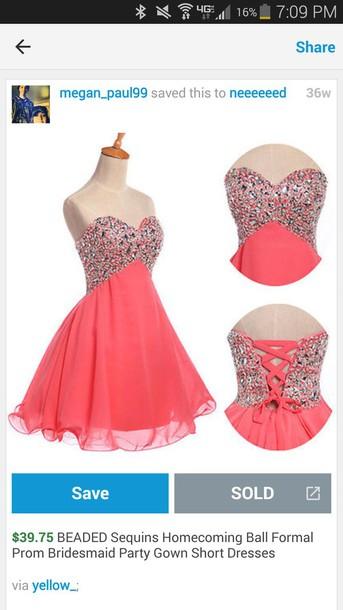 dress peach dress prom dress prom dress