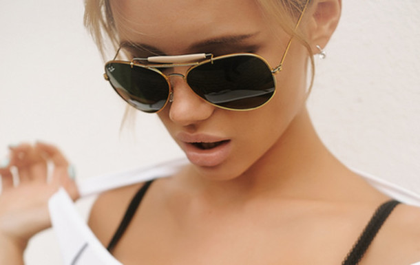 ray ban large aviator sunglasses