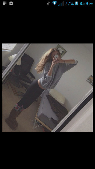 shirt acacia clark grey sweater cute pants black
