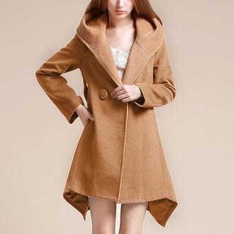 cool coat popular fashion beautiful girl new classy clothes top jumpsuit noble and elegant beauty preppy women warm woolen coat winter coat warm coat long coat