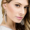 Chain fringe earrings