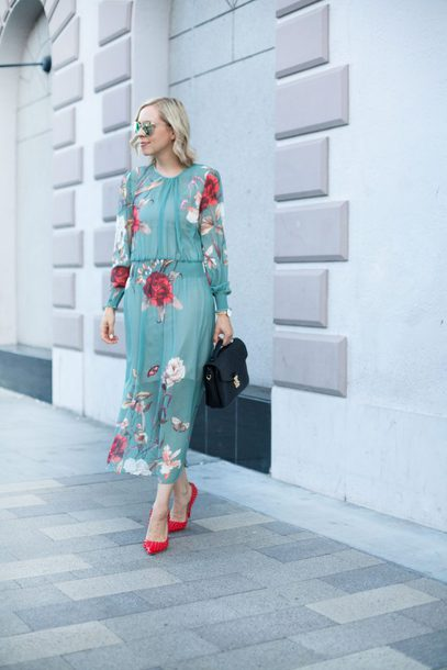 dress maxi dress zaful floral dress pumps satchel handbag