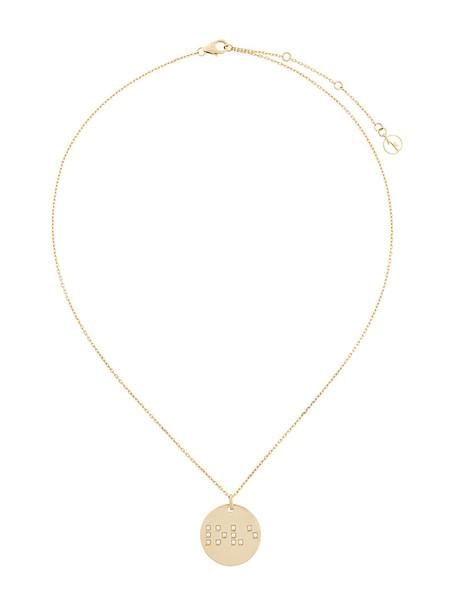 ANISSA KERMICHE women necklace pendant gold grey metallic jewels