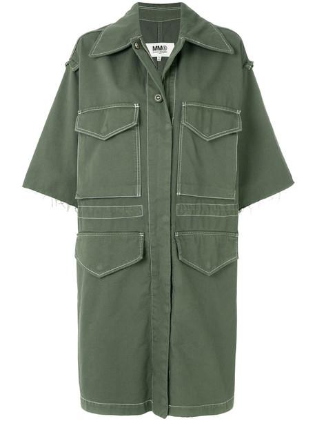 Mm6 Maison Margiela coat women cotton green