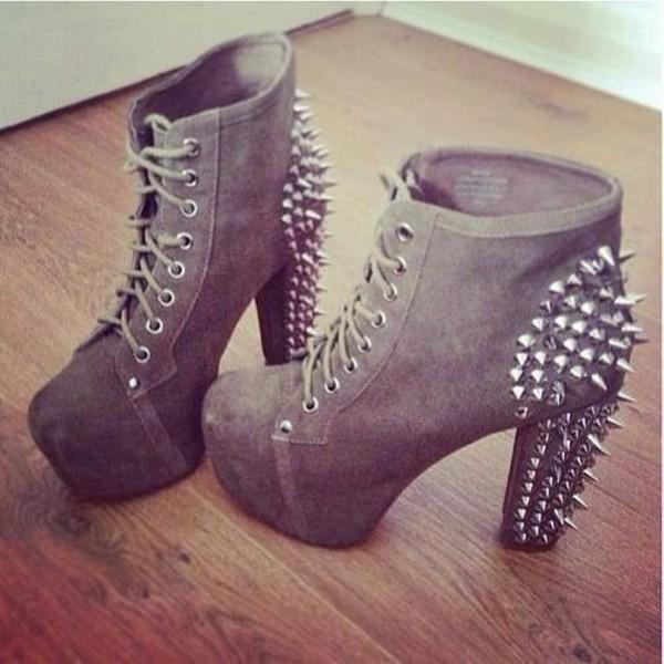 shoes jeffrey campbell high heels block heels spikes platform shoes