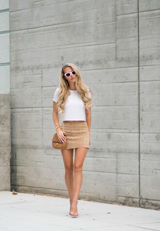 fashion addict blogger skirt top shoes bag jewels