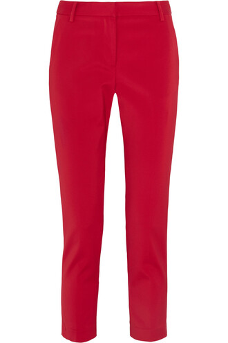 pants cropped red