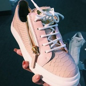 shoes,pink,white,cute,sneakers,platform shoes,flats,platform sneakers,pink sneakers,giuseppe zanotti