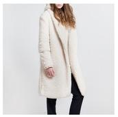 coat,winter coat,white,knitwear,girl,fashion week 2015