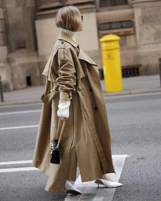 coat tumblr oversized oversized coat long coat camel long coat camel camel coat trench coat shoes white shoes slingbacks