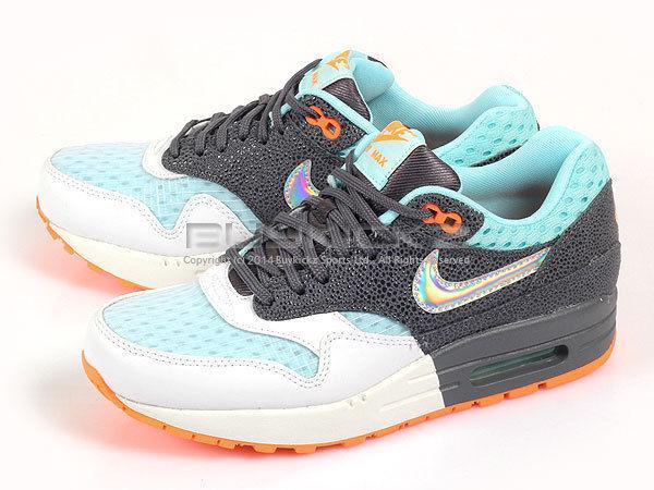 Nike Wmns Air Max 1 PRM Hologram Swoosh White/Grey-Silver-Glacier Ice 454746-103 | eBay