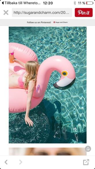 home accessory flamingo pink bikini summer spring ss16 fashion pool bikini top
