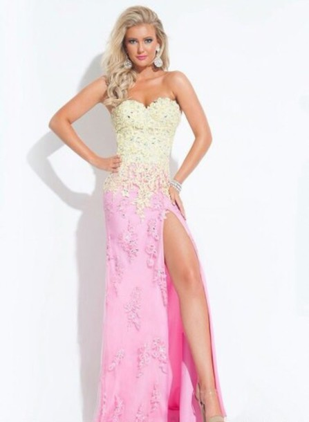 dress, lace dress, lace up, hot pink dress, prom dress, prom dress ...