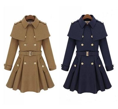 Womens British Shaw Cover Coat