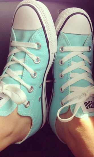 shoes tiffany blue converse tiffany blue or mint white laces