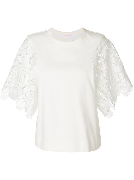 See by Chloe top women lace white cotton