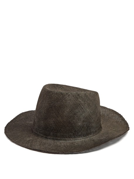 REINHARD PLANK HATS hat straw hat black