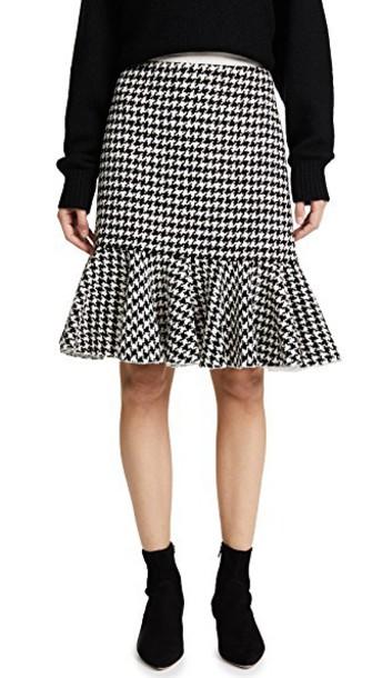 GIAMBATTISTA VALLI skirt houndstooth white black