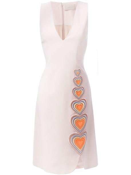 CHRISTOPHER KANE dress shift dress heart women nude